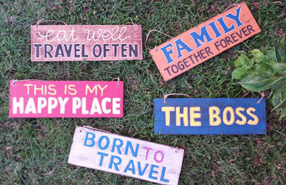 wholesale bali vintage hand carved wooden wall signs, vintage wall decor and vintage home decor, vintage coaster