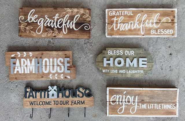 wholesale bali vintage hand carved wooden wall signs